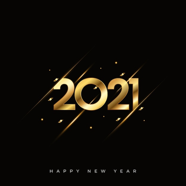 Happy new year abstract background Premium Vector