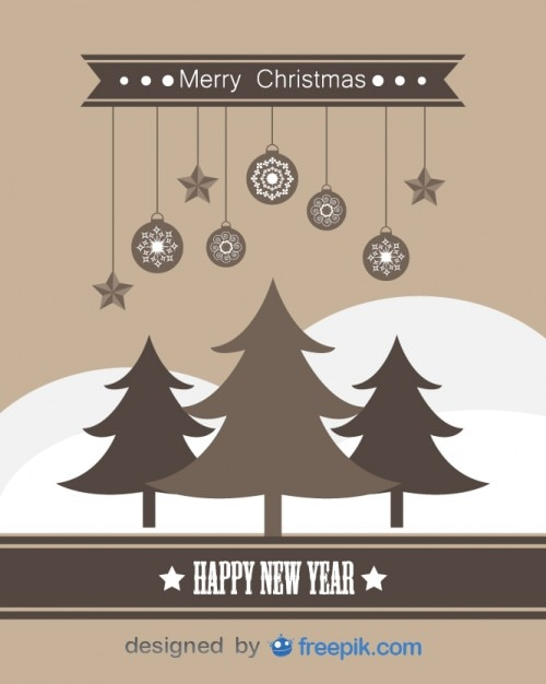 Happy new year and merry christmas greeting card vector free download happy new year and merry christmas greeting card free vector m4hsunfo