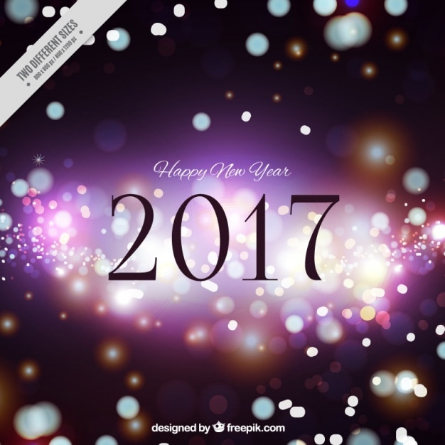Happy new year background with bokeh effect Vector | Free Download