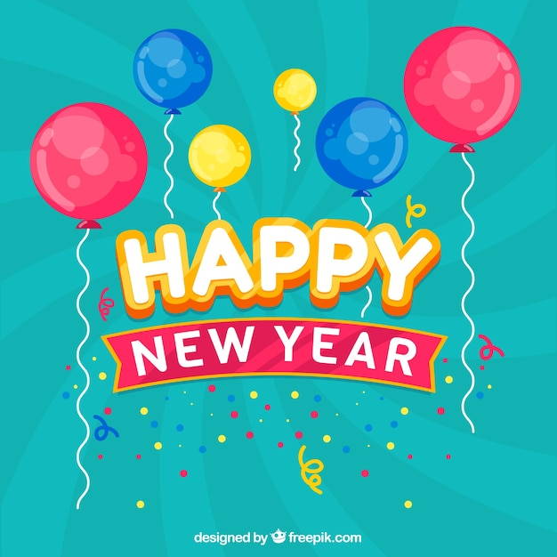 Happy New Year Flat Design 13