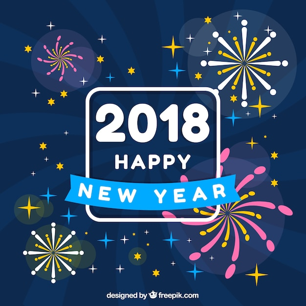 Happy New Year Flat Design 60