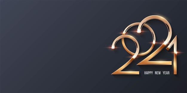 황금 번호와 함께 새 해 복 많이 받으세요 배경 프리미엄 벡터