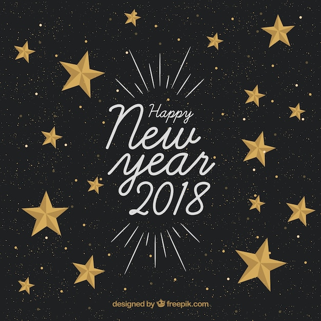 happy new year background with golden stars stock images page everypixel