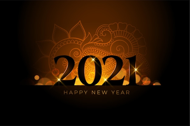 Happy new year  background with light effect Free Vector
