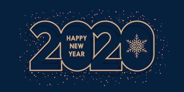 Happy new year banner Free Vector