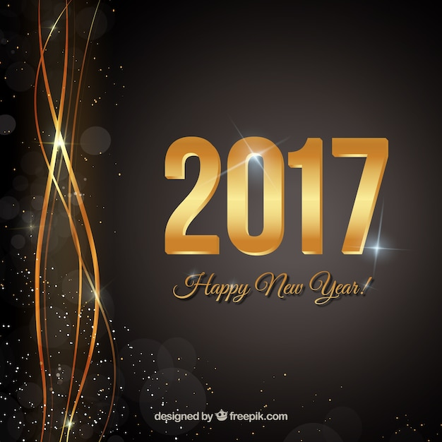 happy new year black background free vector