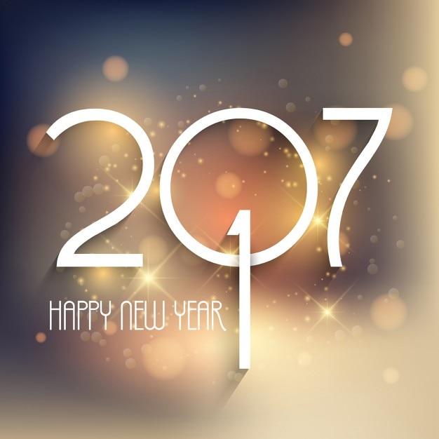 Happy new year bokeh background