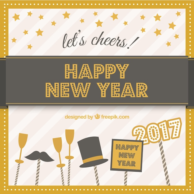 Happy New year card for 2017