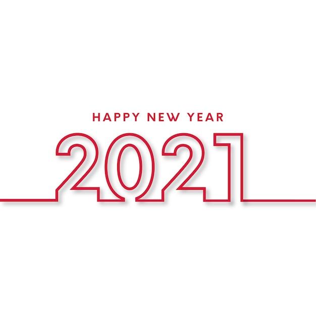 Carta di felice anno nuovo con design piatto Vettore gratuito