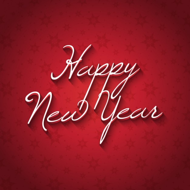 happy new year card with red background free vector
