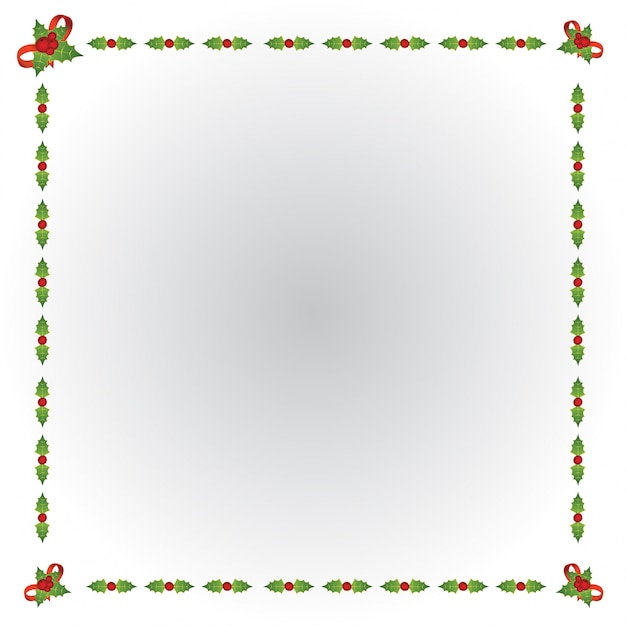 happy new year christmas border free vector