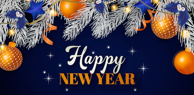 Happy New Year cover Free Vector