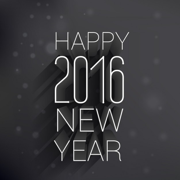 Happy new year design in dark style