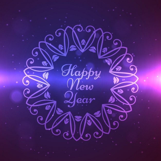 Free Vector | Happy new year design in ornament frame