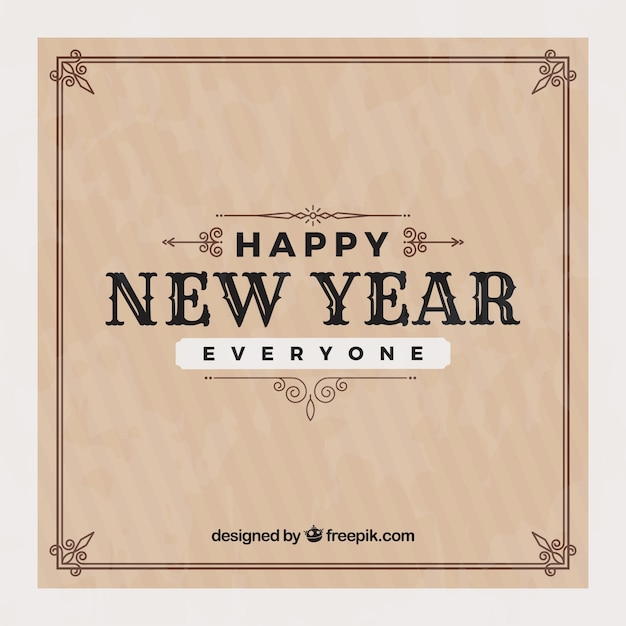 Happy new year everyone vintage background Vector | Free ...