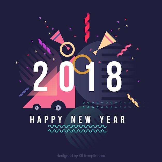 Happy New Year Flat Design 8
