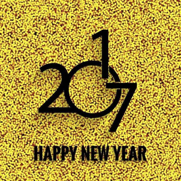 Happy new year golden glitter background\ 2017