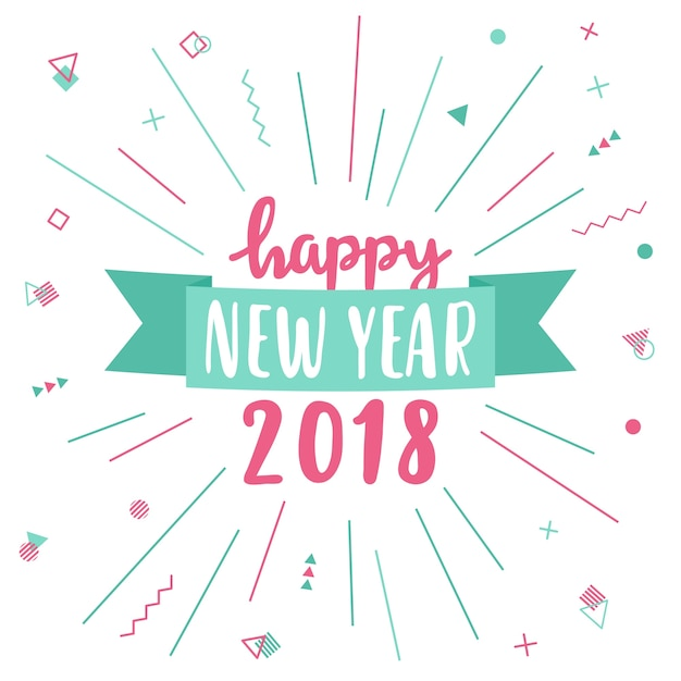 Happy new year greeting card 2018 vector free download happy new year greeting card 2018 free vector m4hsunfo