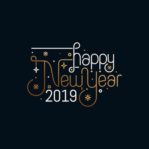 Happy New Year Greeting Card Design Vector Premium Download