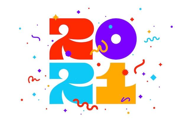 Открытка с новым годом Premium векторы