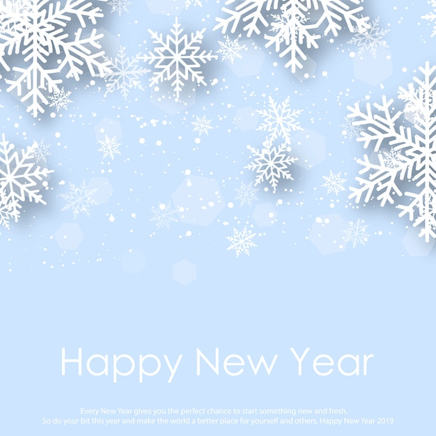 happy new year greeting card premium vector