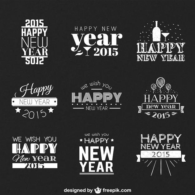 happy new year greetings free vector
