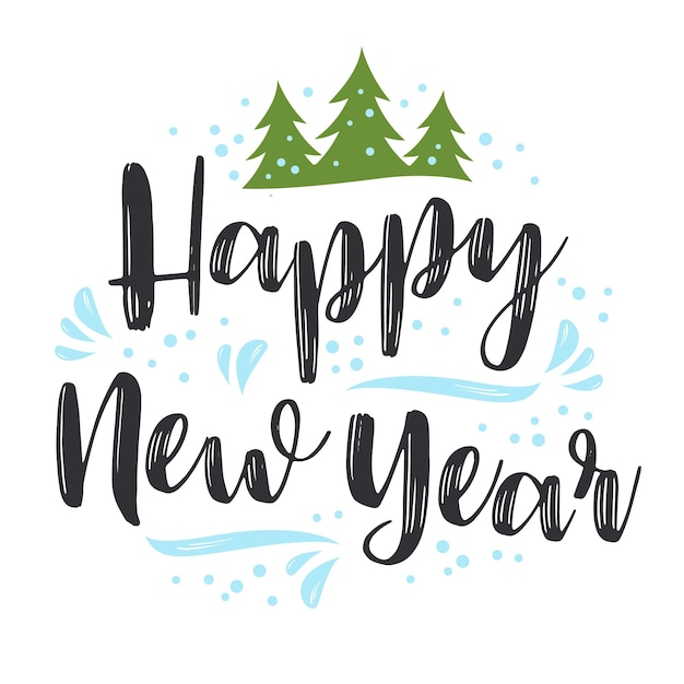 Happy New Year Lettering Design 18