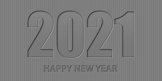 Felice anno nuovo sfondo minimalista con design in stile tipografica Vettore gratuito