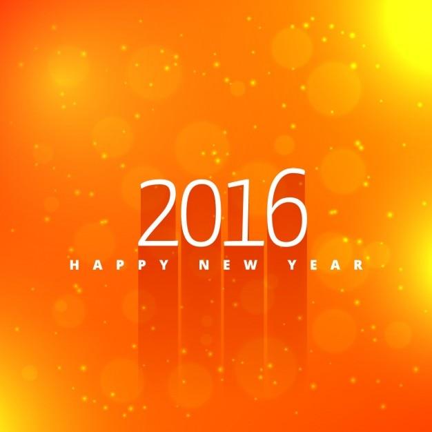 Happy New Year Orange 8