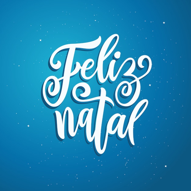 Happy new year in portuguese language Premium Vector
