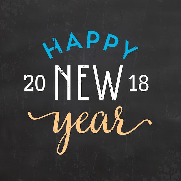 happy new year sign 2018 vector premium download