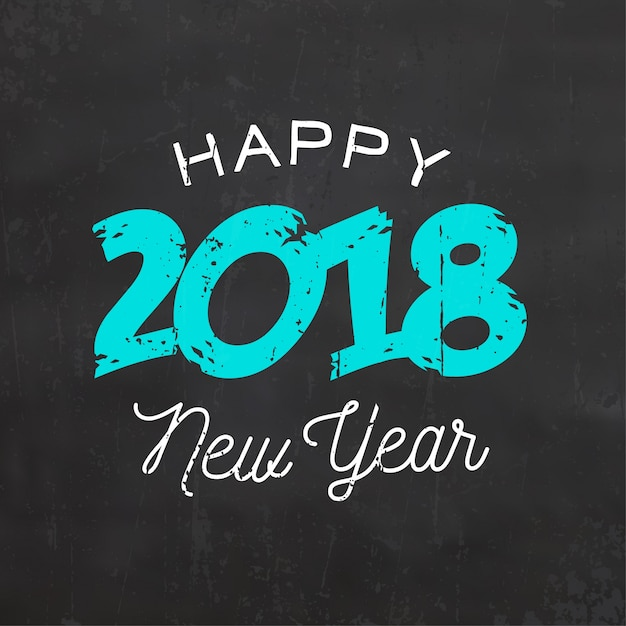 happy new year sign 2018 vector premium download