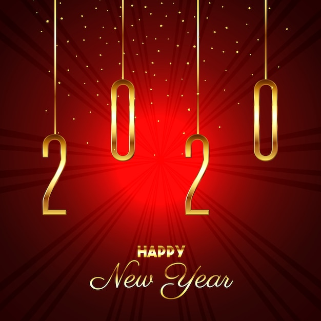 Happy new year starburst background Free Vector