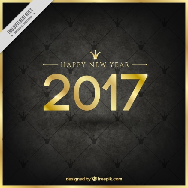 Happy new year with elegant background