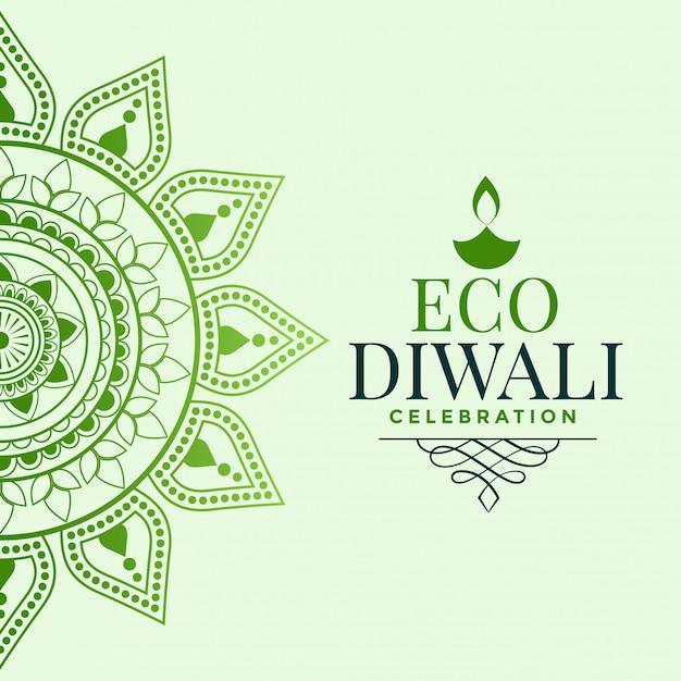 Happy organic diwali festival greeting concept Free Vector