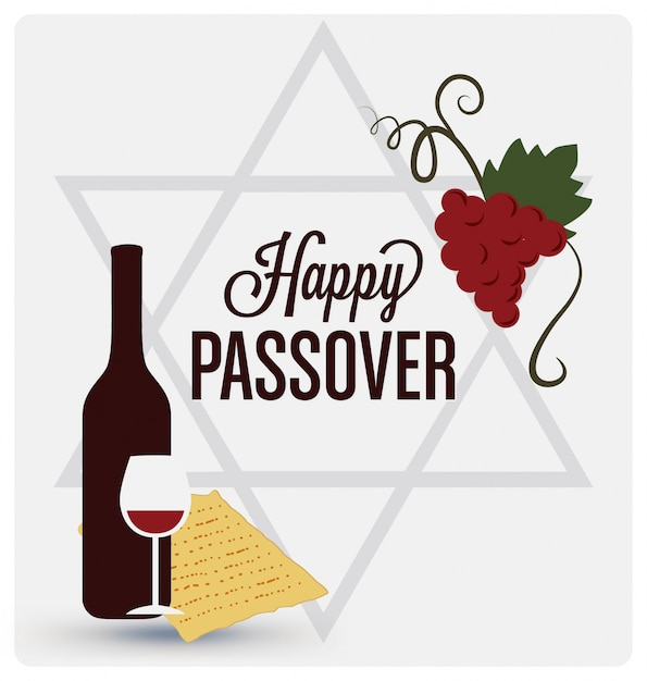 happy passover background design vector | free download