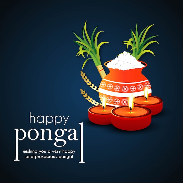 Happy pongal background Free Vector