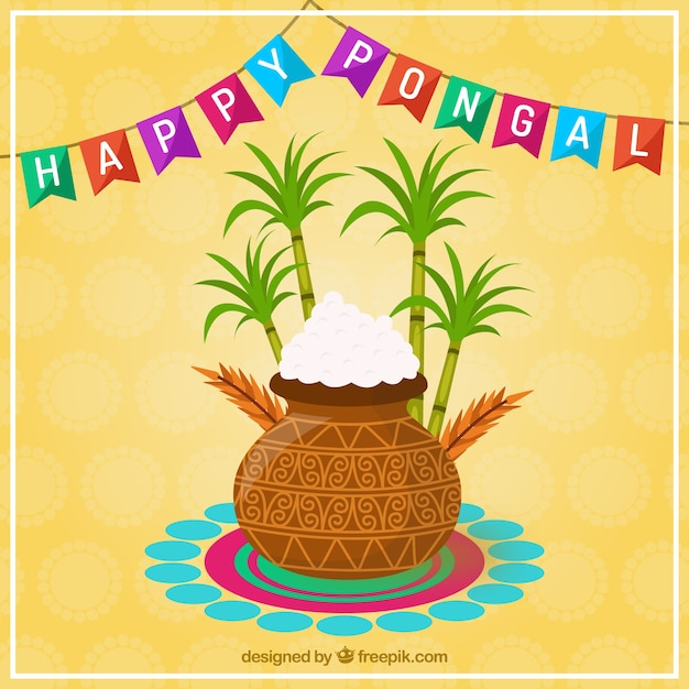 Happy pongal card vector free download happy pongal card free vector m4hsunfo