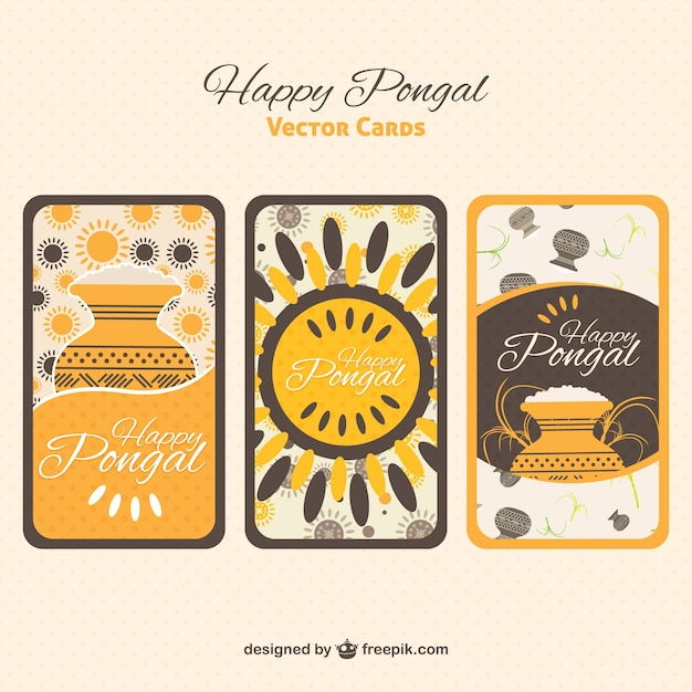Happy pongal greeting cards vector free download happy pongal greeting cards free vector m4hsunfo