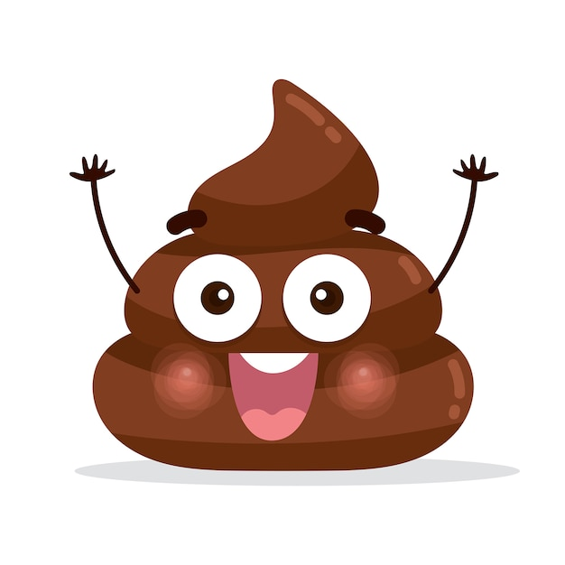 Happy Poopoop Character Emoticon Vector Premium Download