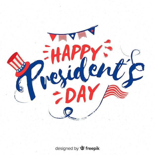Happy presdient's day Free Vector