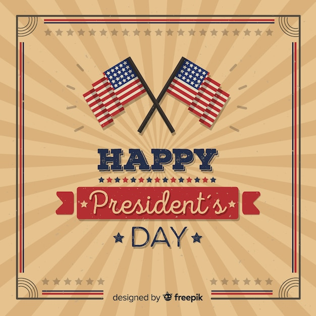 Happy presdient's day Free Vector