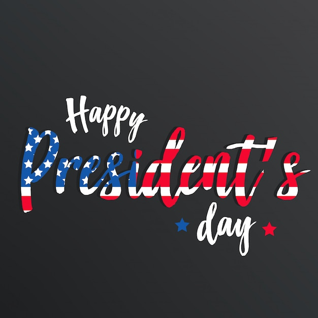 Happy president day  background or banner Premium Vector