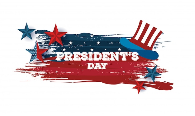 Happy president day background. Premium Vector