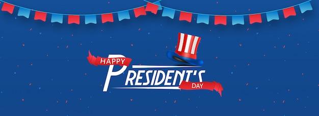 Happy president day background. Premium Vector