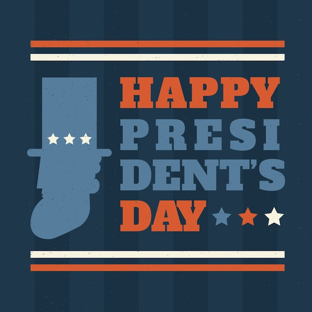 Happy president day vintage concept Free Vector