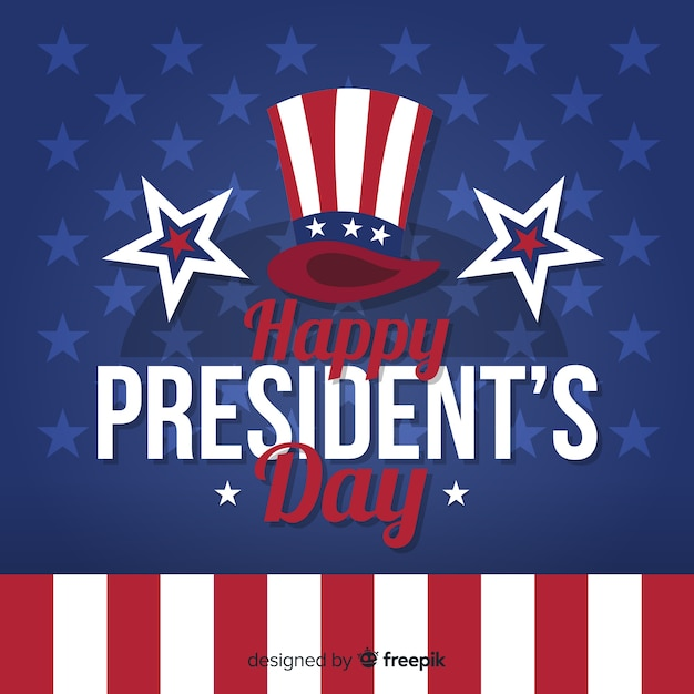 Happy president's day Free Vector