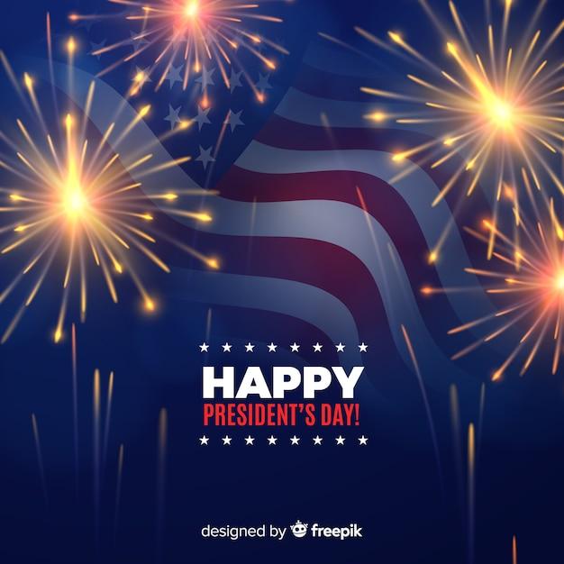 Happy president's day Free Vector