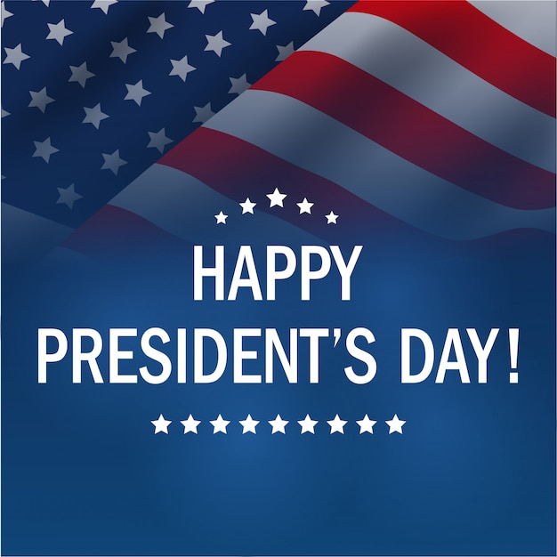 Happy presidents day background. Premium Vector