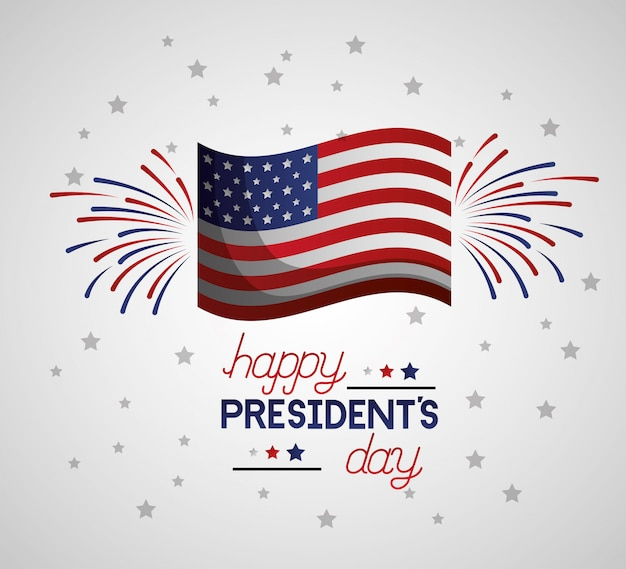 Happy presidents day Free Vector